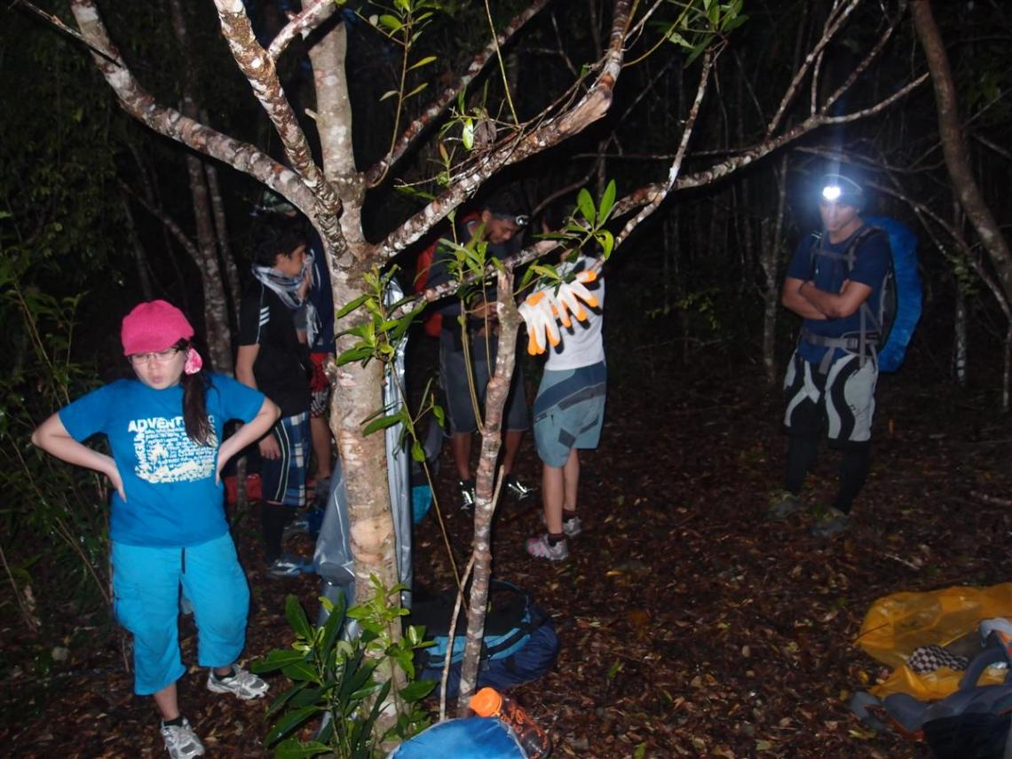 It was night time when we reached the camp!