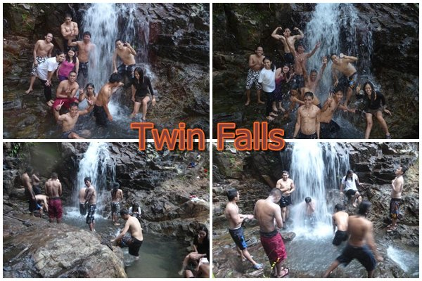 The reward for extending one night...haha! A dip at the  twin falls. Not bad!