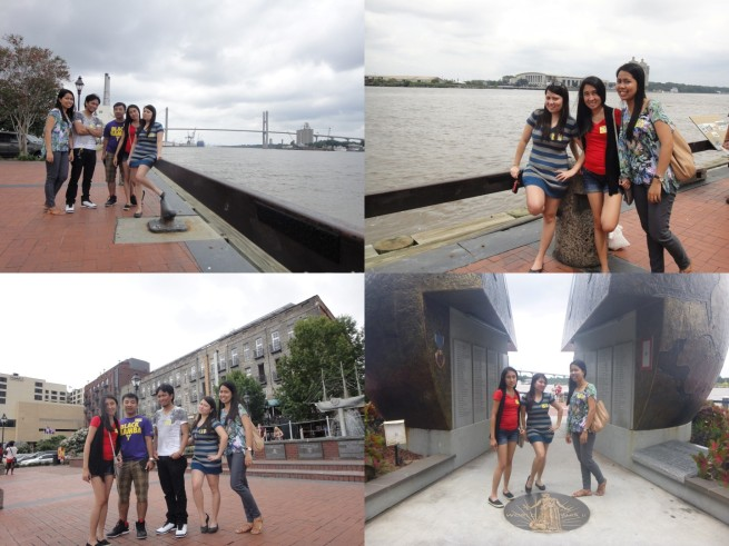 Wandering around Savannah's baywalk after lunch!