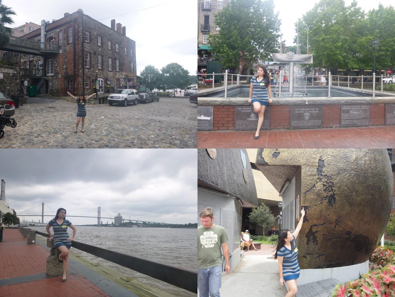 Wandering around Savannah's baywalk after lunch!