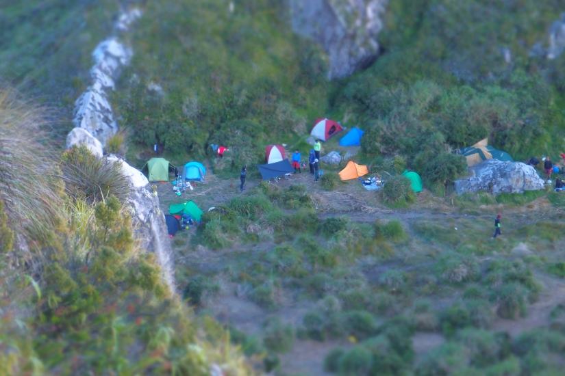 A View of the camp from the top!