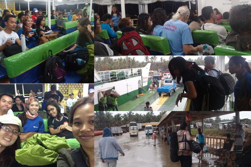 Volunteers arrival at Camotes Port.