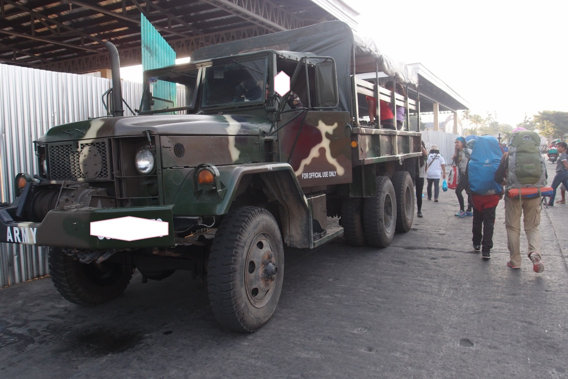 Our pick-up for the day that would take us to our first stop - Brgy Cabintan!