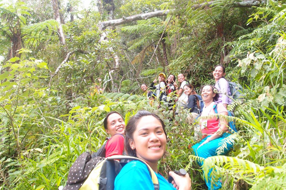 Happy faces despite the uphill battle. Survivor look!