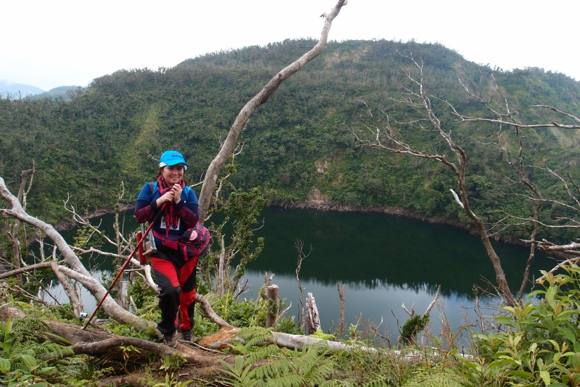 Hello Lake Janagdan after 2 hours! My face doesn't look so hungry but I AM! That was some CLIMB!
