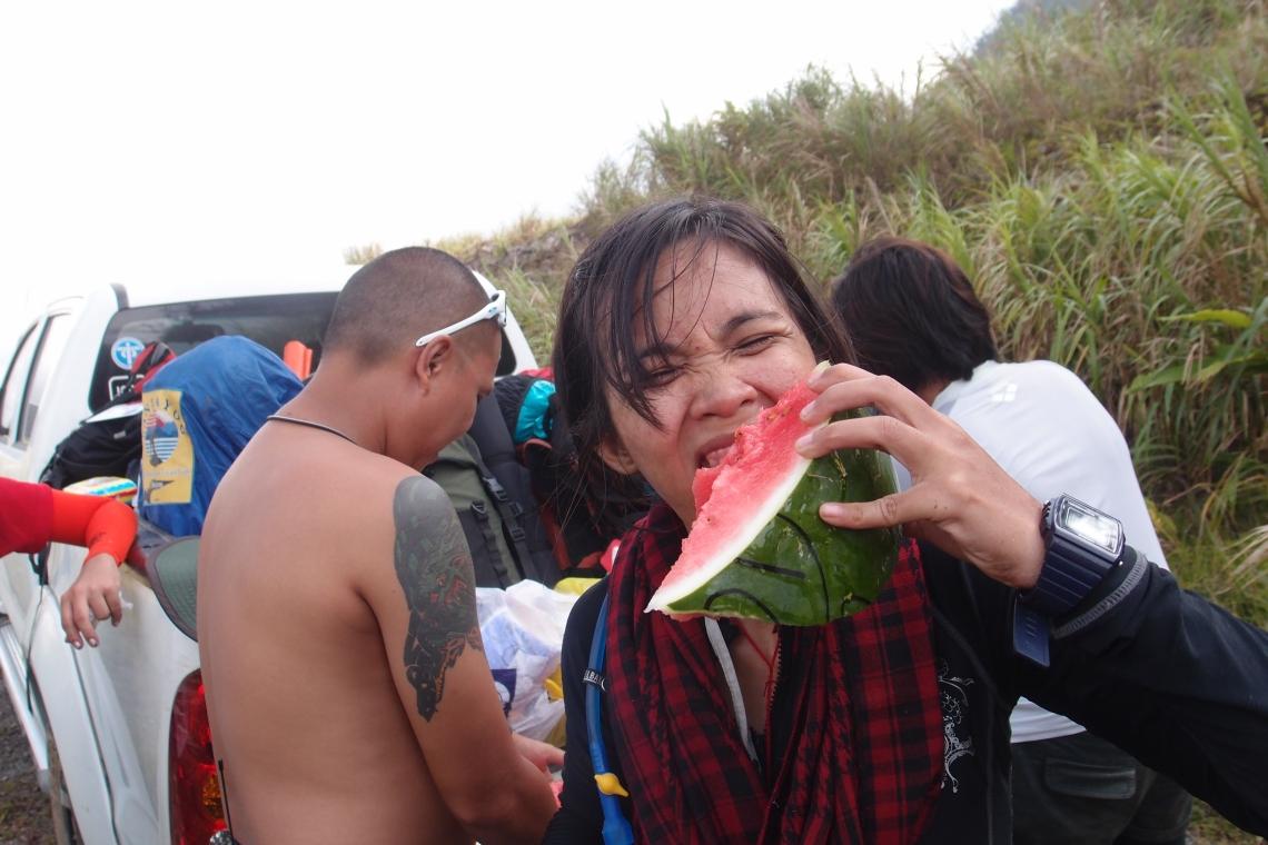 Lizzy enjoying the watermelon!!!