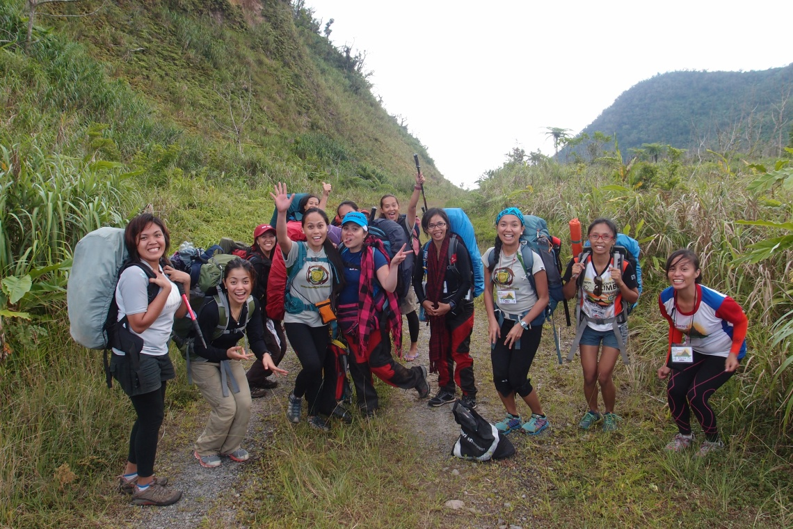 Happy women after drinking coke & eating watermelons! Ready to camp for the night.