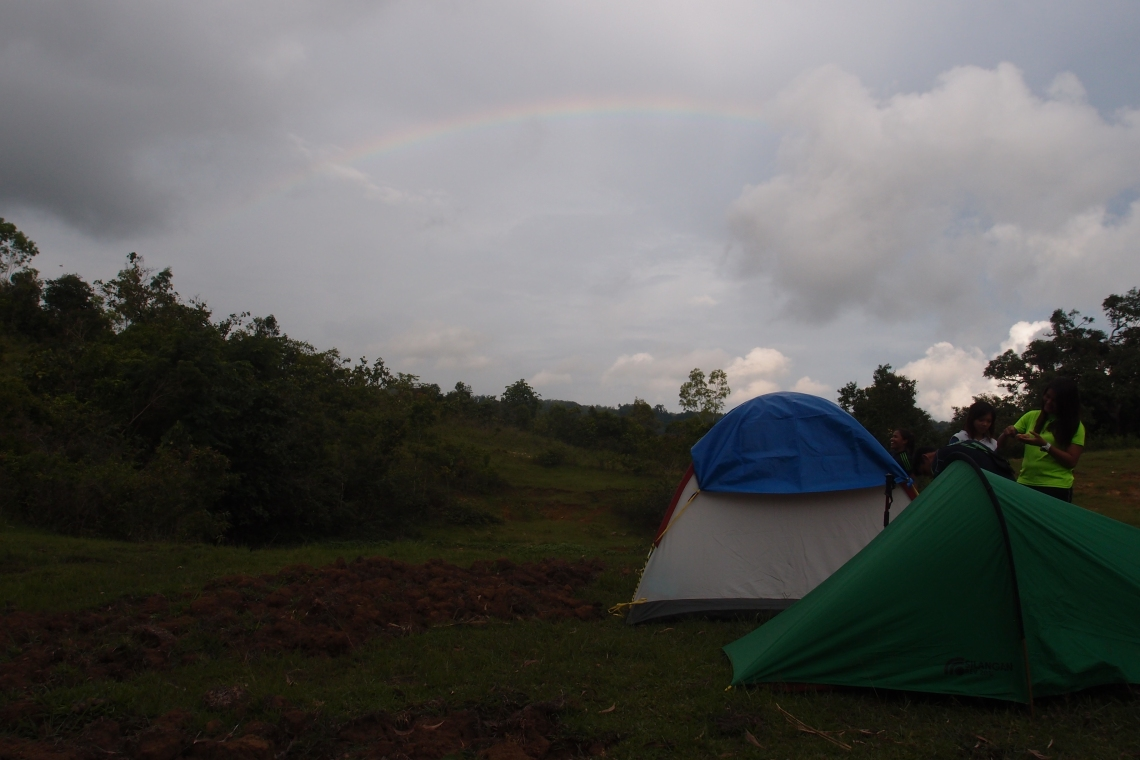 Rainbow in the camp!