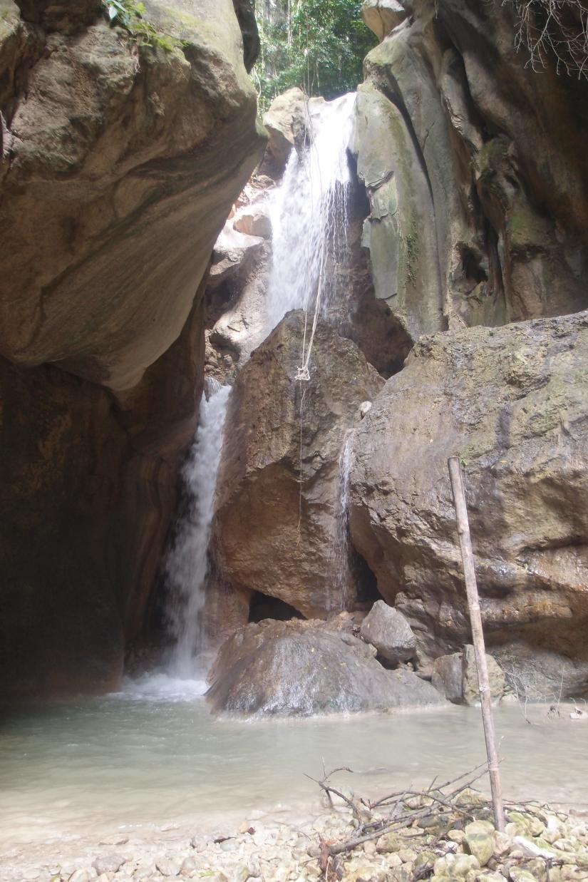 The last falls! It doesn't look like it's high but it is. :D