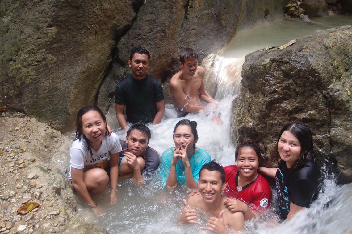 Us enjoying the water!