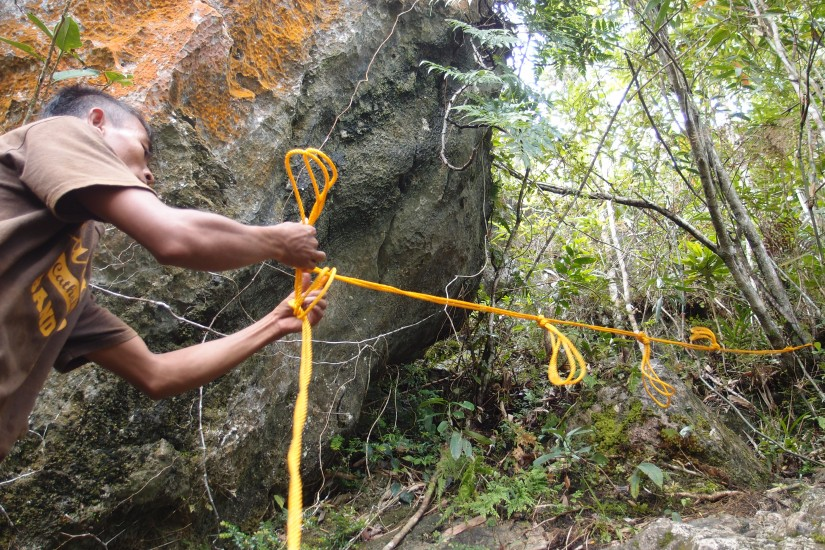Robinson setting up the rope!
